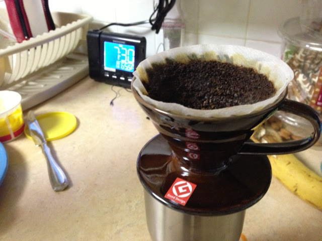 Photo: Sent to me this morning, from someone I gently forced into a pour-over coffee upgrade. Makes my day, this does.