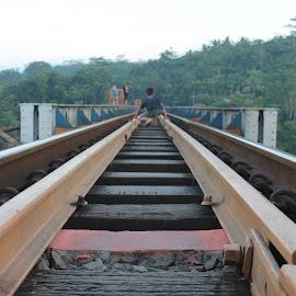 railway by Helmi Nugraha - Transportation Railway Tracks ( canon, railway, train, candid, cirahong )