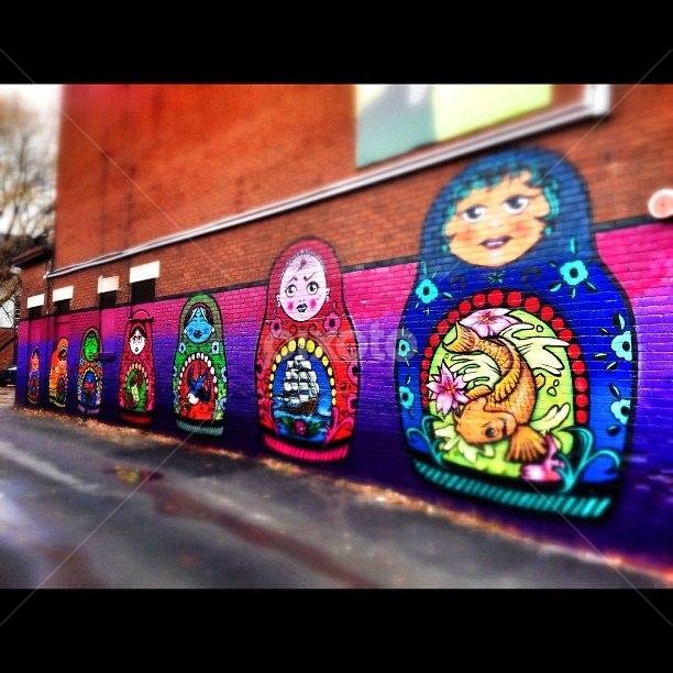 Graffiti Dolls by Sophie Bee - City,  Street & Park  Street Scenes