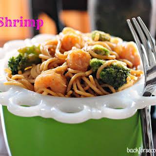Skinny Thai Shrimp Pasta.