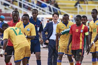 Photo: Coach McKinstry protests after a player is brought down [Rwanda vs Uganda, CECAFA 2015 Final, 5 Dec 2015 in Addis Ababa, Ethiopia.  Photo © Darren McKinstry 2015, www.XtraTimeSports.net]
