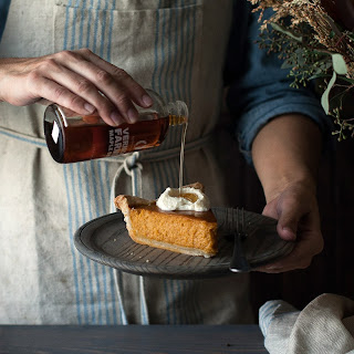 Maple Pumpkin Pie with Maple Marscarpone Cream.