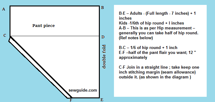 cómo coser el fondo de salwar
