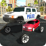 Elevated Car Driving Sim: LA Police Cars Chase