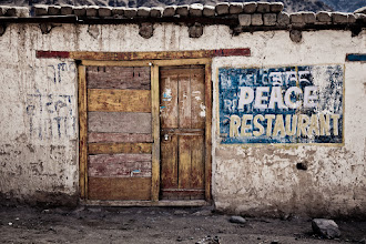 Photo: When we arrived in Upshi, we found this restaurant. Unfortunately, it was abandoned and we had to eat at another place.