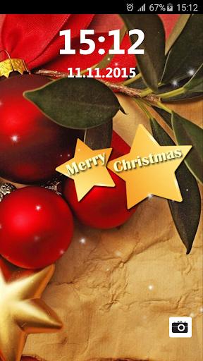 クリスマス ロック画面