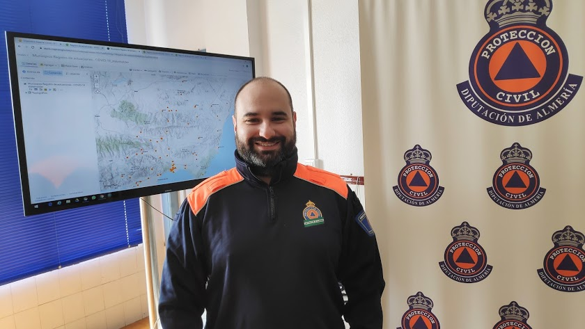 Antonio Fernández, voluntario de Protección Civil.