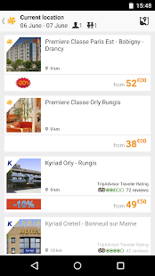 Premiere Classe, hotel booking- screenshot thumbnail