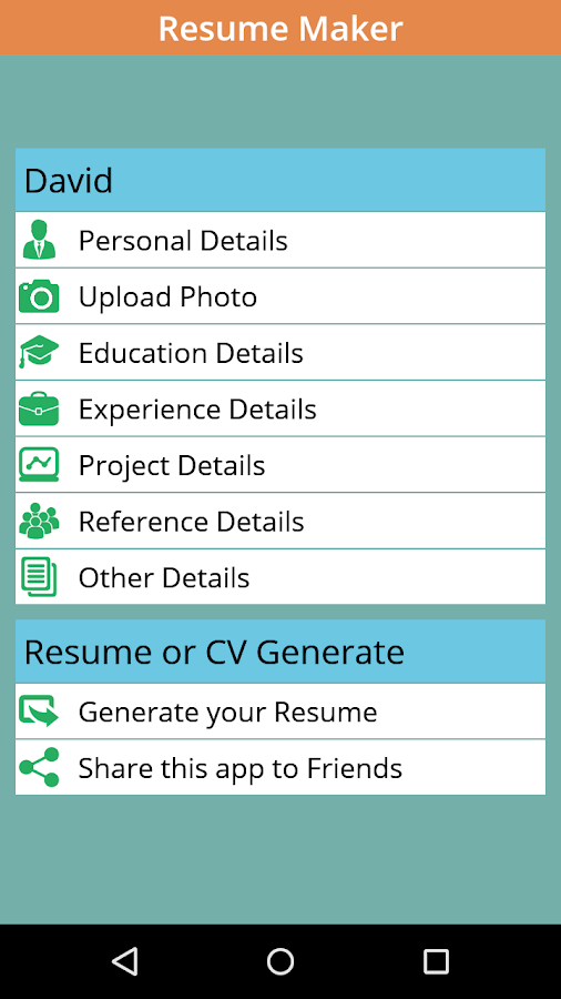 instant resume cv maker free screenshot