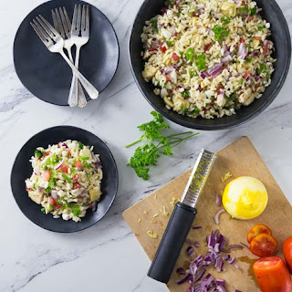 Mediterranean Orzo Salad.