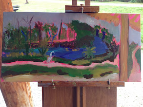 Photo: Painting in progress by Diane Hagg. 1-30-14_At Riverbend Pk