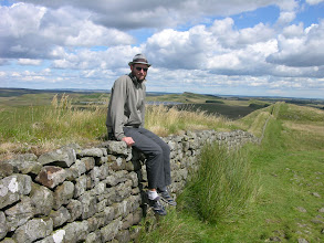 Photo: Mick and Hadrian's Wall