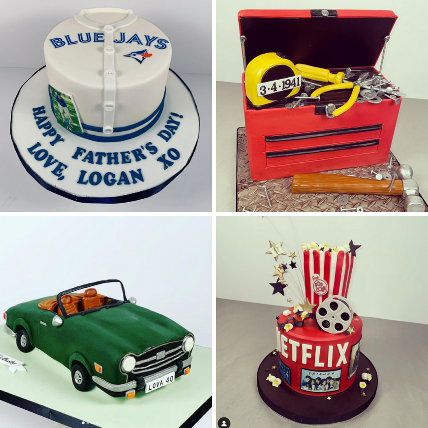 A collage of a car and a cake  Description automatically generated with low confidence