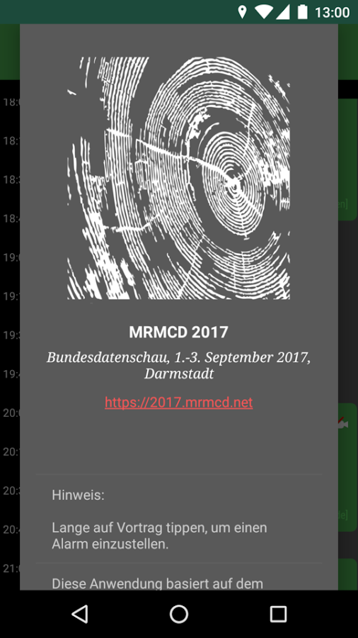 MRMCD 2017 Programm- screenshot