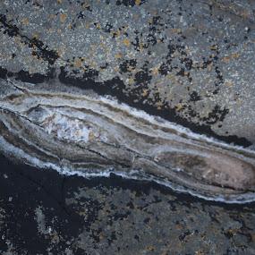 Salty pattern 1 by Sigbjørn Berg - Nature Up Close Rock & Stone ( waterpond, dried-up, salt )