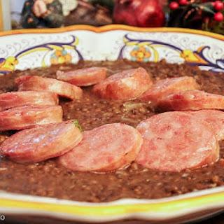 Cotechino con lenticchie (Emilian Sausage with Lentils)