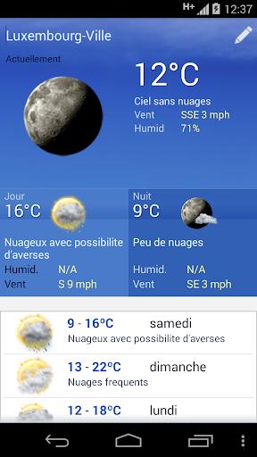 Meteo Luxembourg screenshot 2
