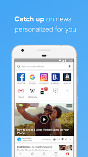 Opera with free VPN Screenshot