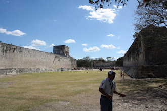 Photo: Famed ball court at Chichen Itza
