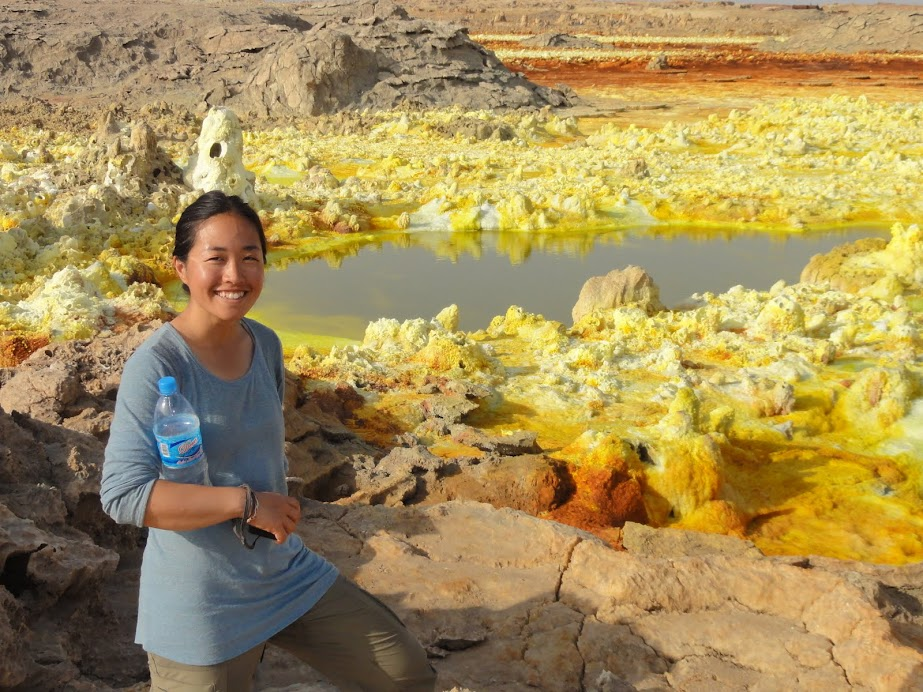 Me just gobsmacked at what I'm seeing at Dallol, Ethiopia... it's like Yellowstone on steroid!