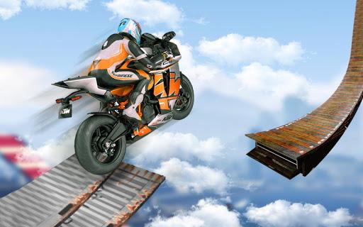 bicyclette impossible pistes course: moto cascades  captures d'écran 1