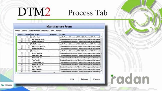 Radmanager – модуль, с помощью которого данные из заказов клиентов оперативно вводятся в систему RADAN и раскладываются на металлическом листе наиболее экономичным образом