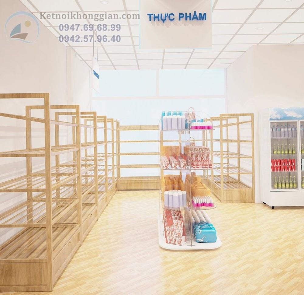 hướng thiết kế nội thất siêu thị mini hòa nhã, thẩm mỹ cao