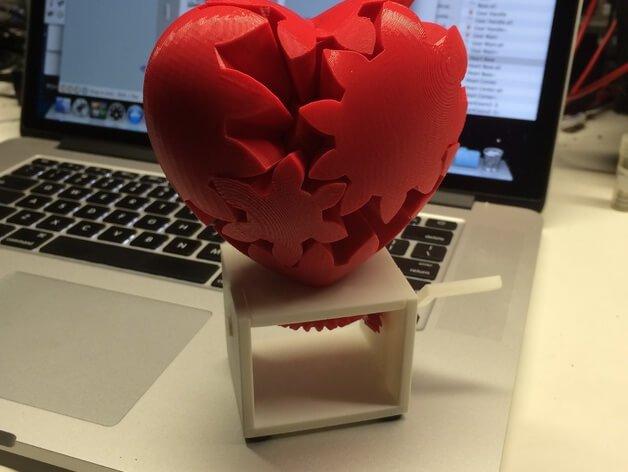 3D модель Редукторное сердце, с ручным управлением