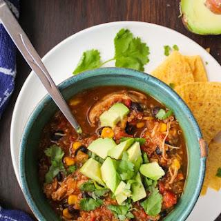 Instant Pot Chicken Enchilada Soup (Crock Pot Option).