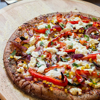 Skinny Roasted Veggie and Ricotta Pizza