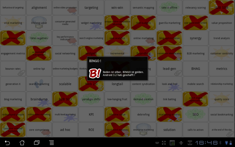 Buzzword Bingo (Multiplayer)- screenshot