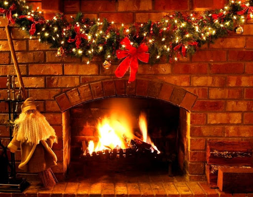 Christmas Real Fire - Add Logs