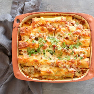 Easy Aubergine Beef Cannelloni.