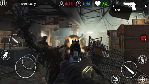 Zombie War Survival  captures d'u00e9cran 2