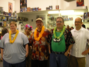 Photo: The Tiki Zombie creative team! Kathryn Parker, Michael Gordon, Peter Cutler, and Lewis Cox III!