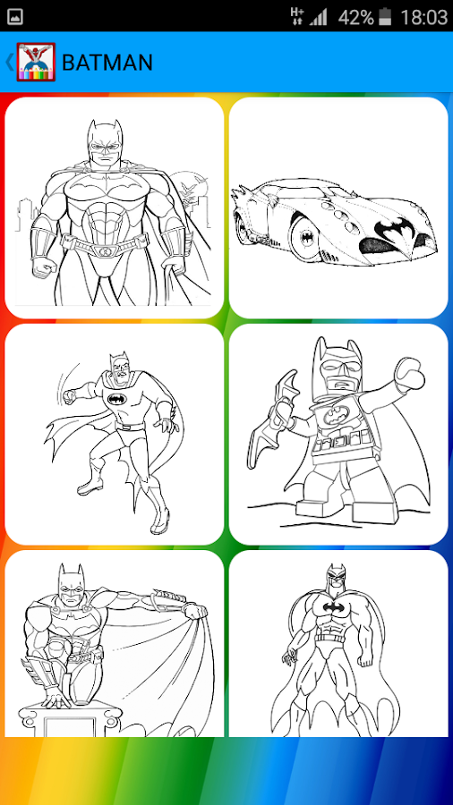Super Heroes Coloring Book Screenshot