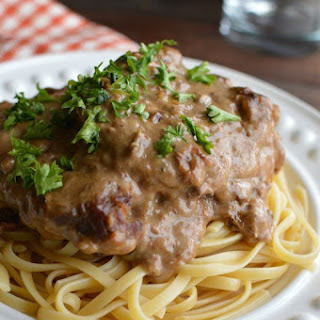 Slow Cooker Cube Steak in Mushroom Sauce.