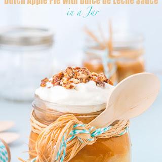 Dutch Apple Pie with Dulce de Leche Sauce in a Jar