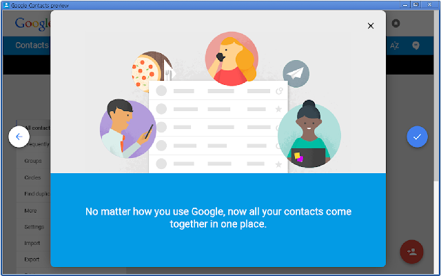contacts chrome web store