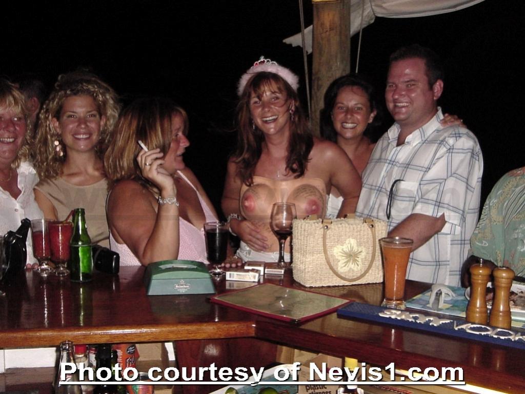 Photo: Bachelorette / Hen Party The Old Galipot Bar and Restaurant. Nevis Island. http://www.nevisforum.com