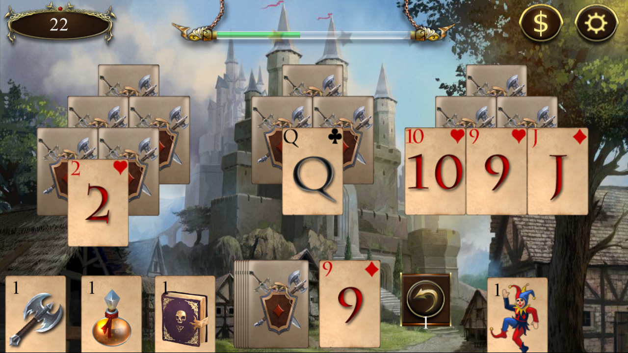 Legends of Solitaire Curse of the Dragons TriPeaks- screenshot