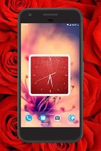 Red Clock Live Wallpaper - náhled
