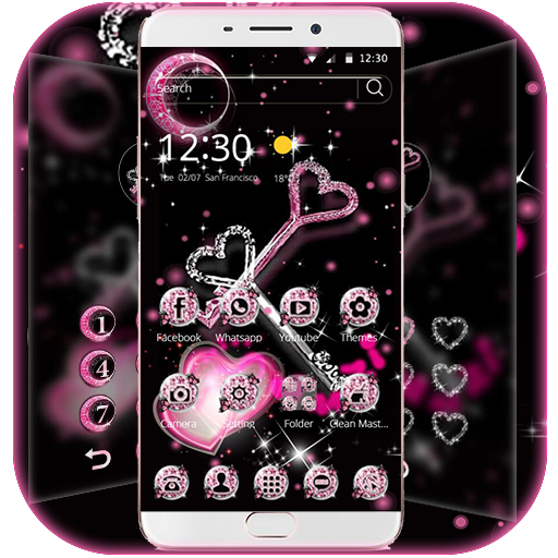 Glitter Love Diamond Key Theme