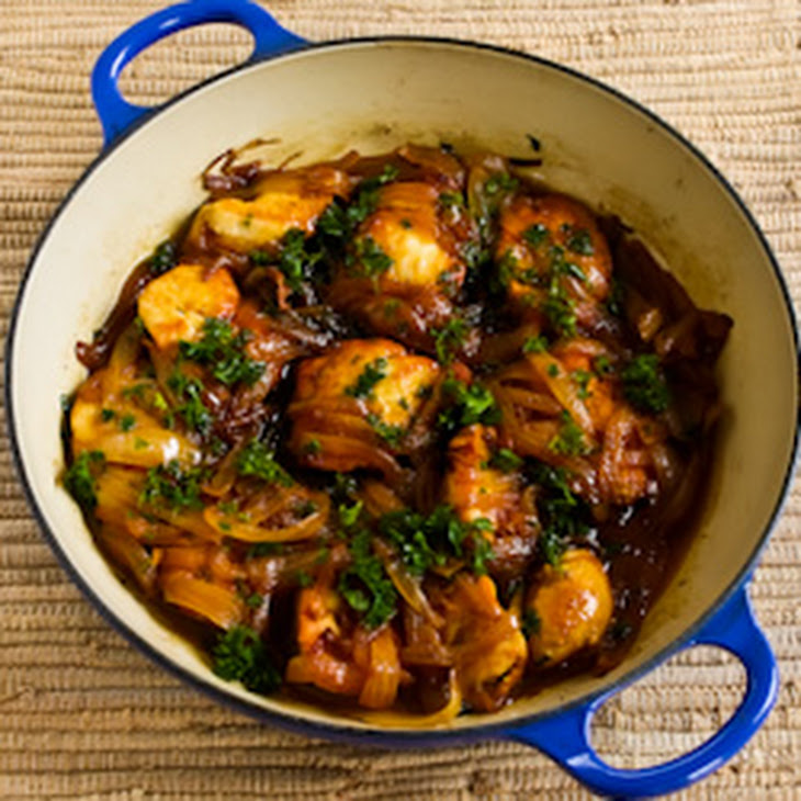 Saffron Chicken with Parsley and Lemon Recipe