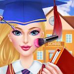 High School Girl Makeup salon Icon