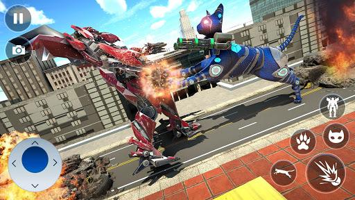 Cat Robot Car Transformation War Robot Games  screenshots 11