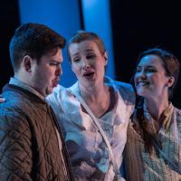 Aaron Sheppard (Pavlo), Natalya Gennadi (Oksana), and Jacqueline Woodley (Natalia) in Oksana G., Tapestry Opera, 2017. Photo: Dahla Katz.