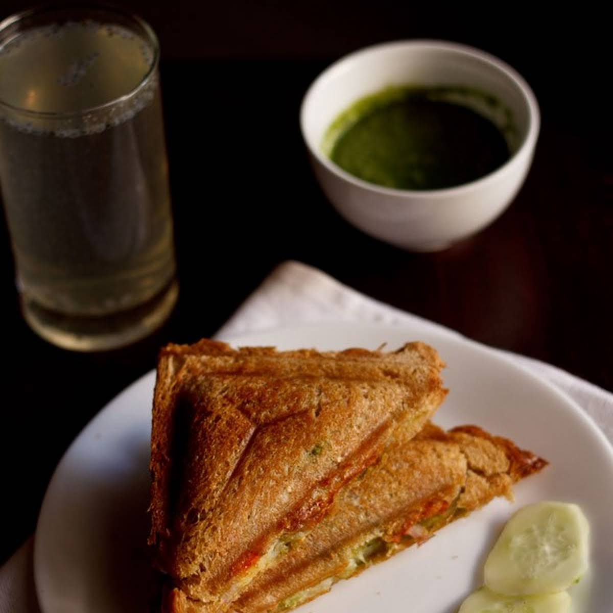 Veg Cheese Toast Sandwich
