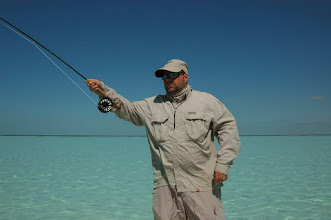 Photo: Fish On! Shop manager Andy Jensen on the February bonefish trip