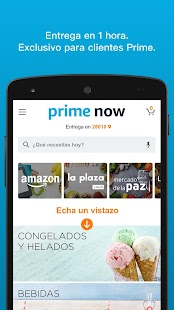 Amazon Prime Now: miniatura de captura de pantalla